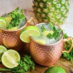 Coconut Rum Cocktails - Pineapple Mule