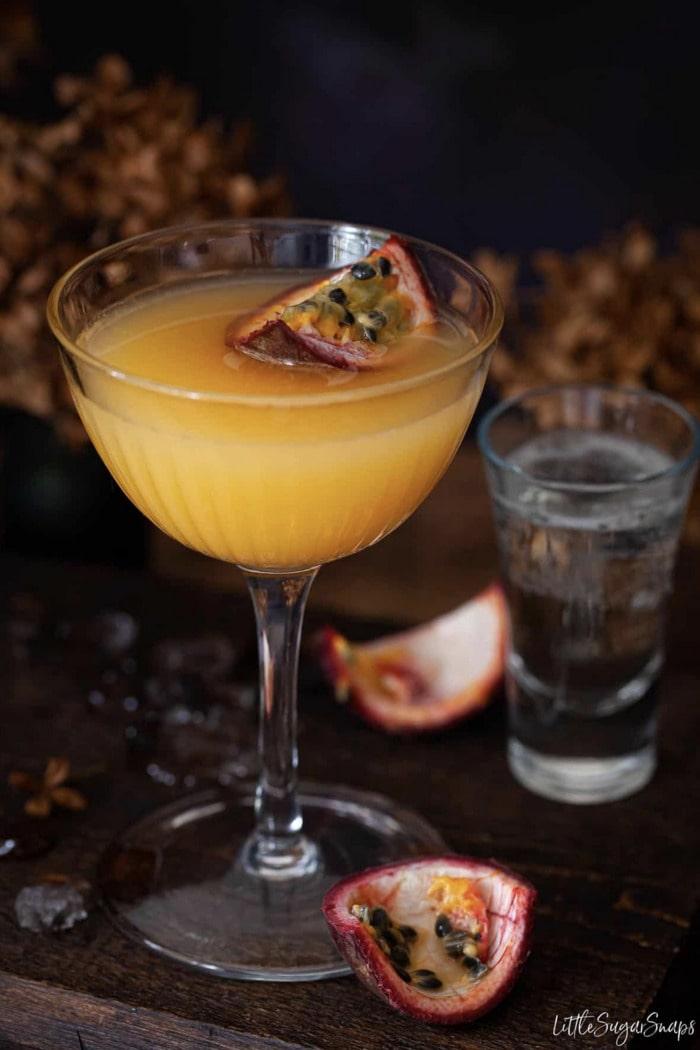 Coconut Rum Cocktails - Passionfruit Margarita