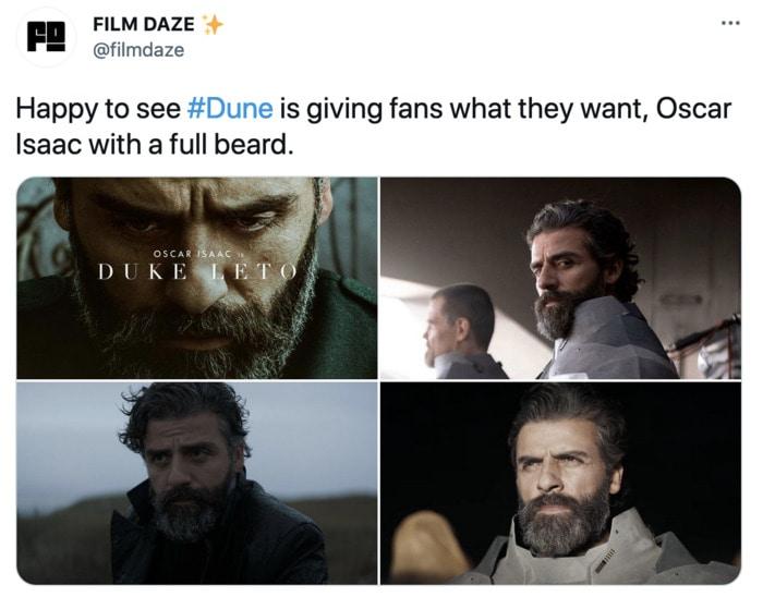 Dune Poster Tweets - Oscar Isaac beard