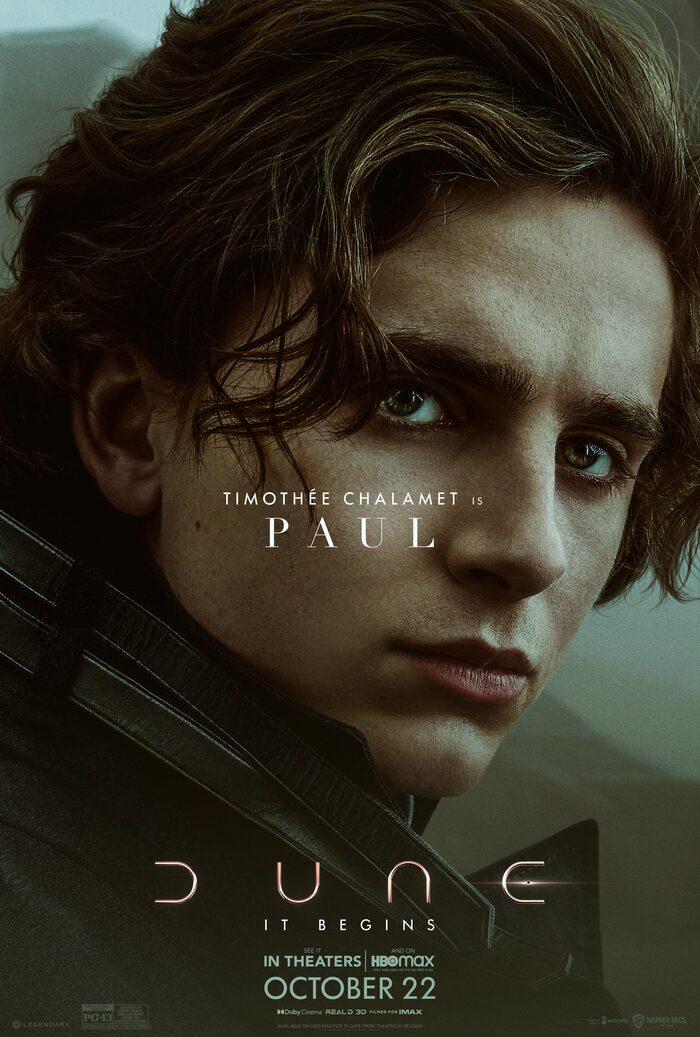 Dune Poster - Timothee Chalamet