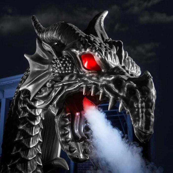 Home Depot Fog Breathing Dragon - fog breathing dragon head