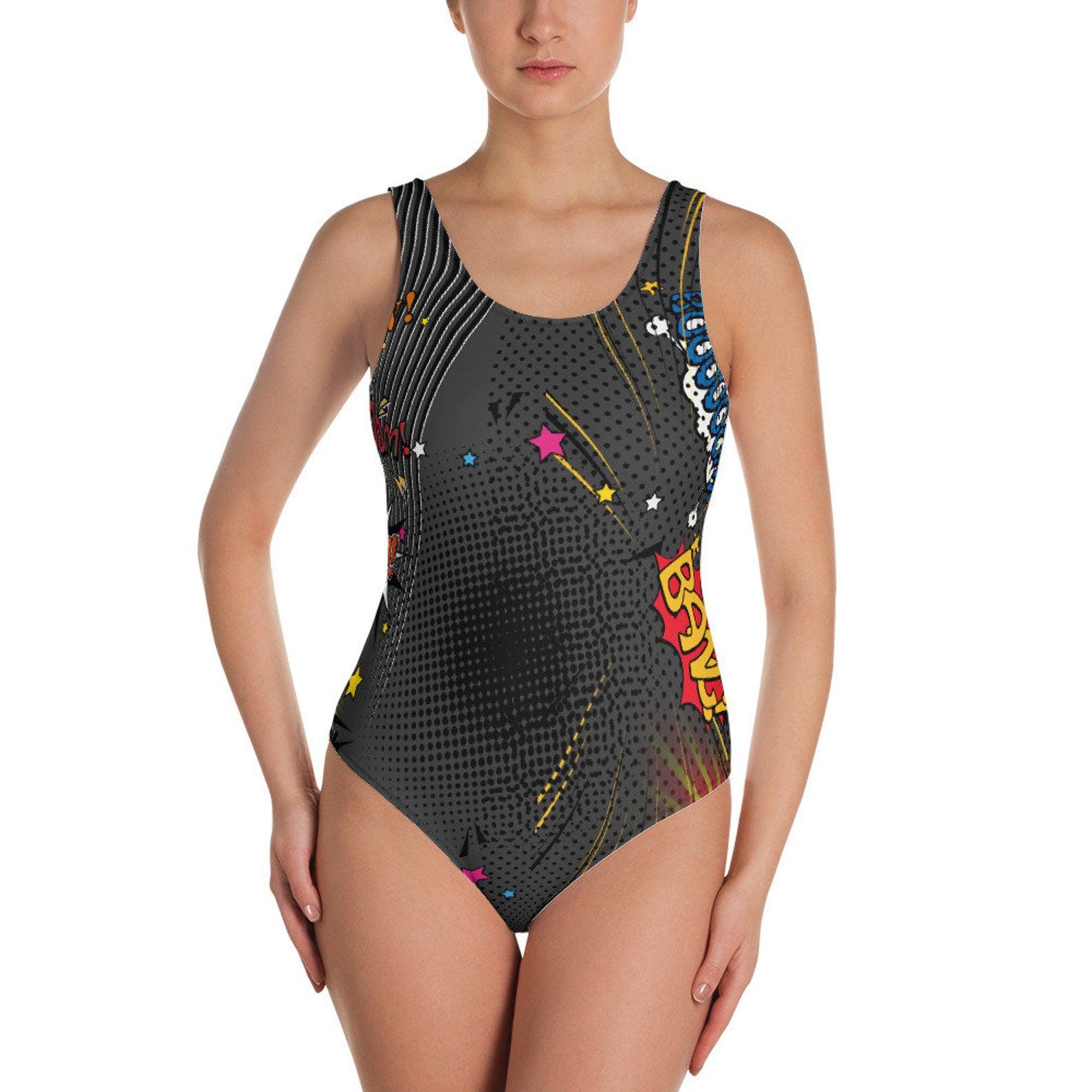 Nerdy Swimsuits - Boom Splat