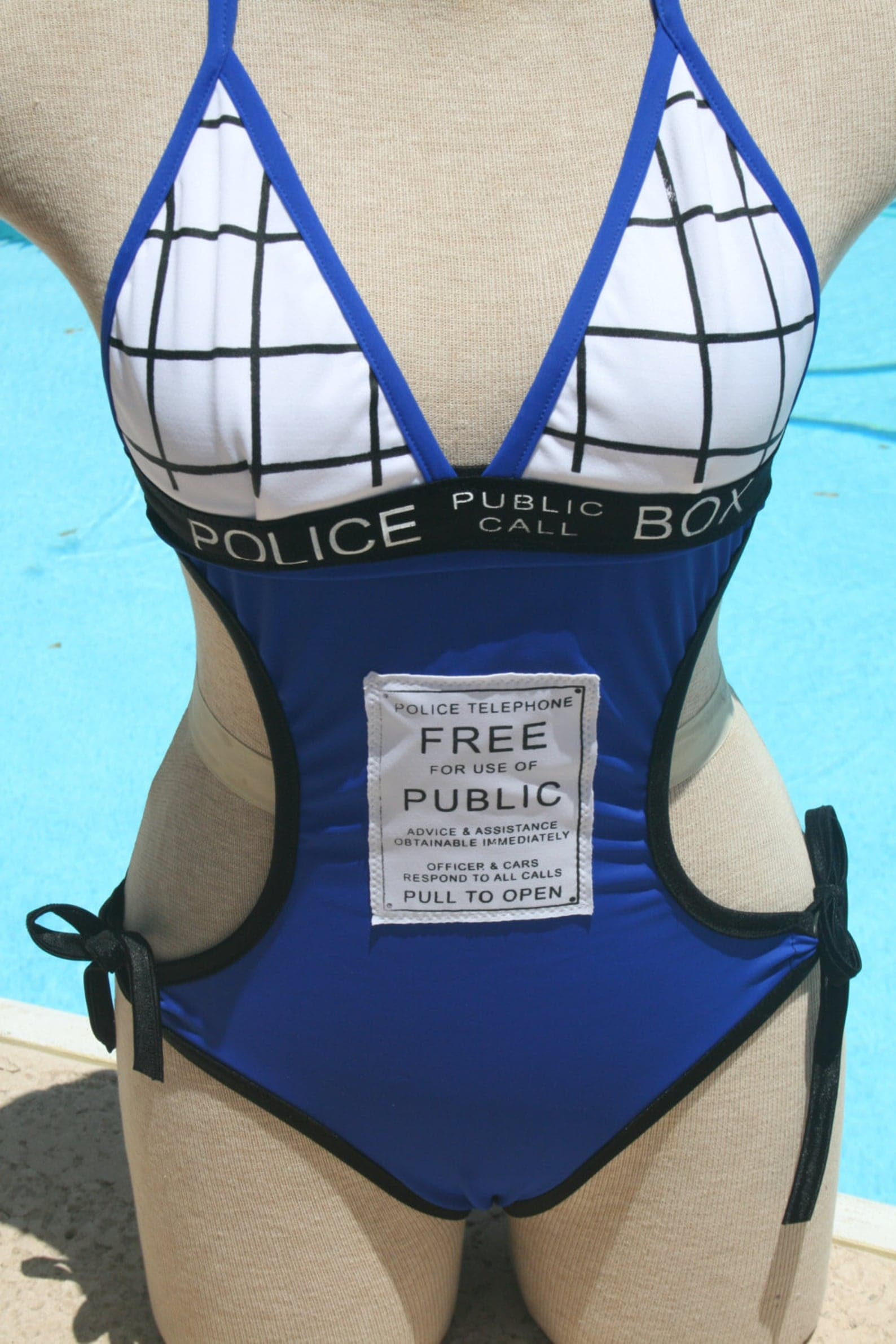 Nerdy Swimsuits - Dr Who Tardis