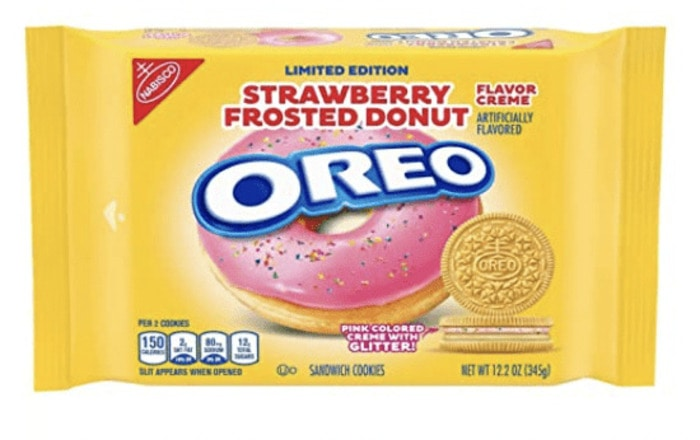 Oreo Flavors - Strawberry Frosted Donut Oreo