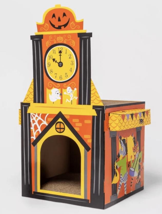 Target Halloween Cat Scratcher - Clock Tower Cat Scratcher