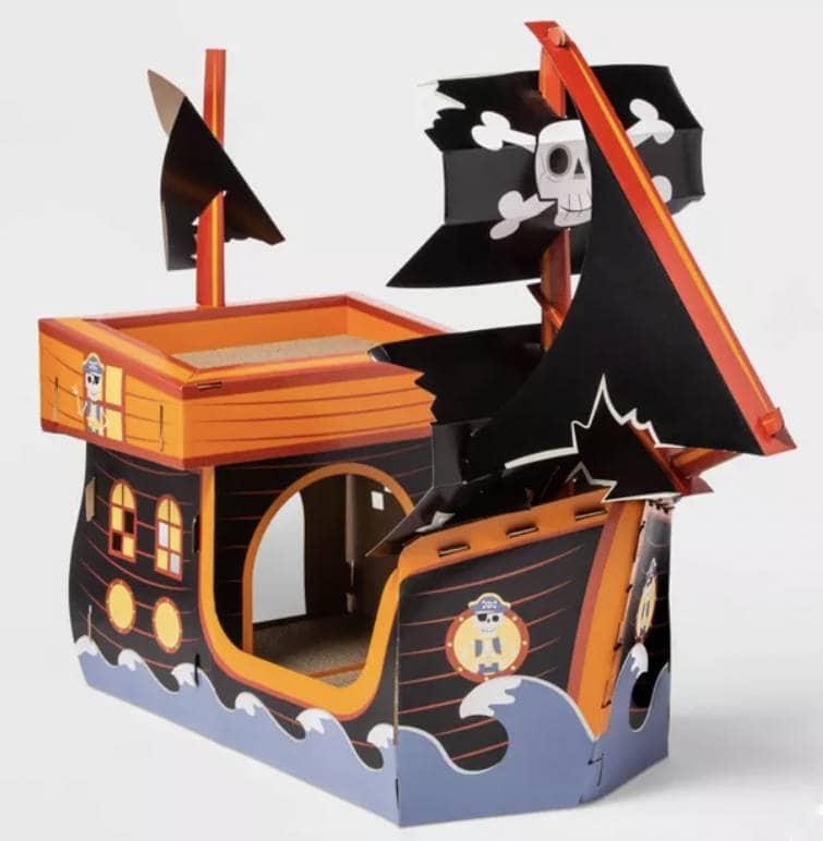 Glow in the Dark Pirate Ship Cat Scratcher