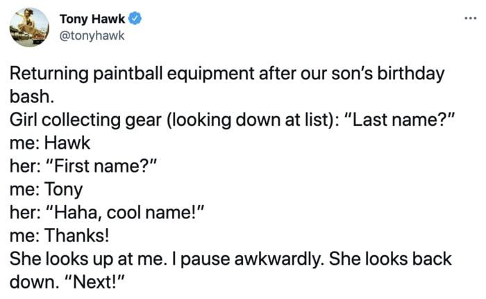 Tony Hawk - name
