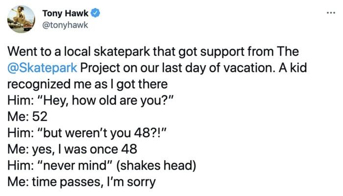 Tony Hawk - age