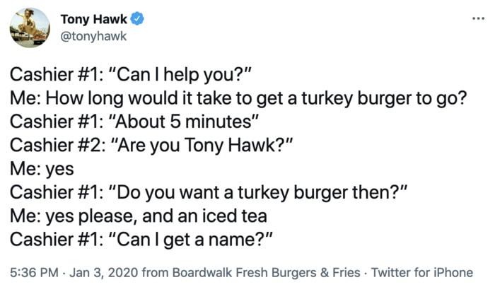 Tony Hawk Tweets - are you
