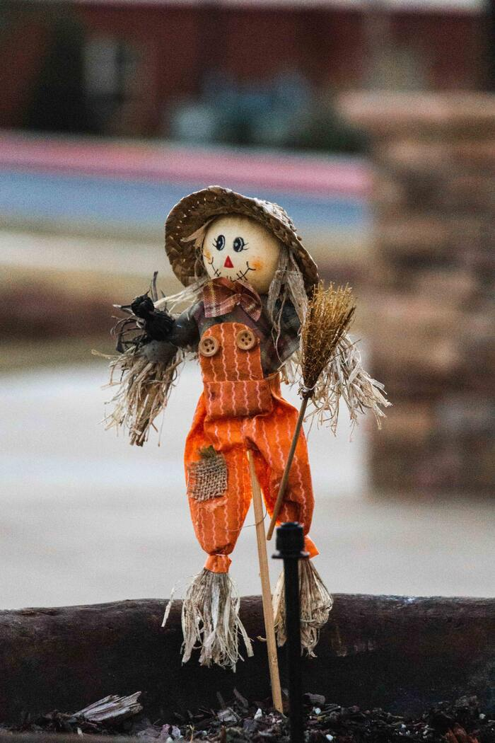 Corny Jokes - scarecrow smiling