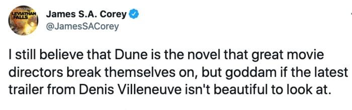 Dune Tweets - beautiful trailer