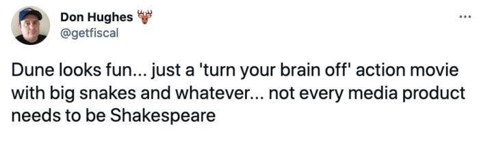 Dune Tweets - turn your brain off