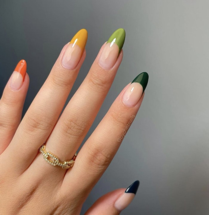 Fall Nail Designs - autumn ombre tips