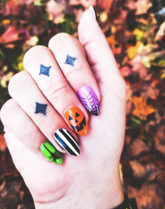 Fall Nail Designs - Halloween nails