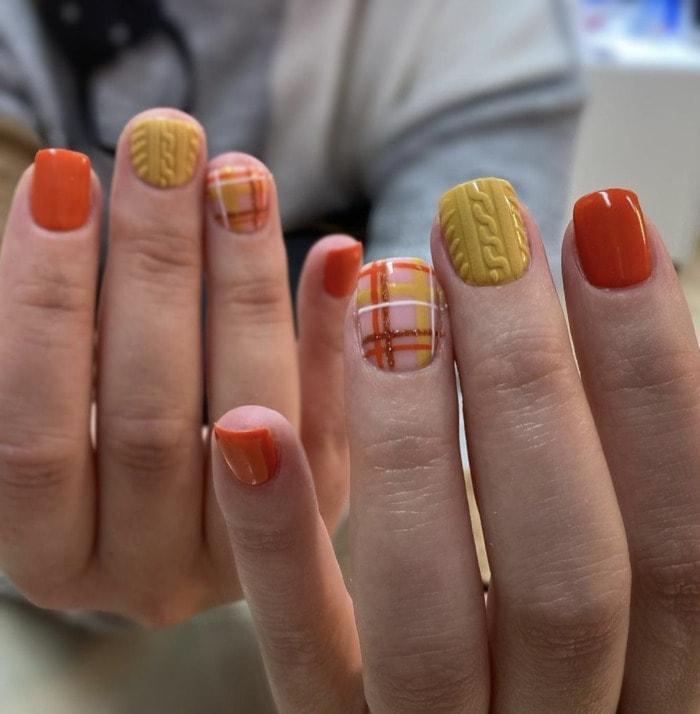 Fall Nail Designs - sweater nails