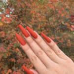 Fall Nail Designs - burnt orange nails
