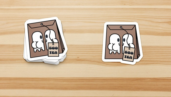 Ghost Puns - Boo tea stickers