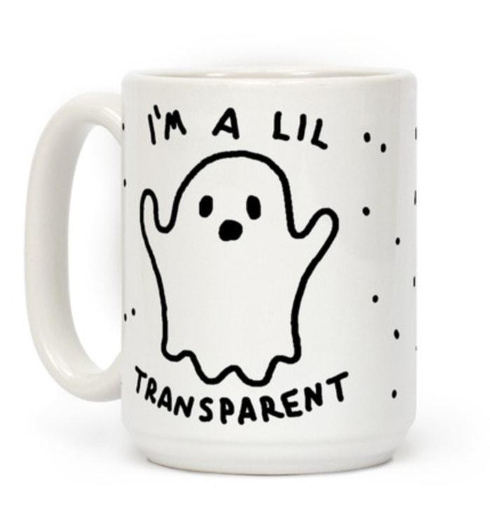 Ghost Puns - I'm a Lil transparent mug