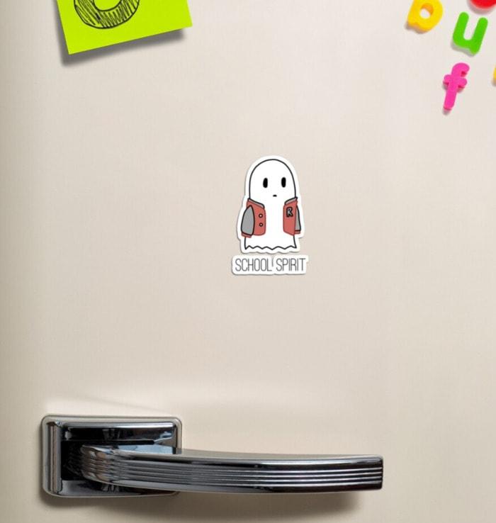 Ghost Puns - school spirit sticker