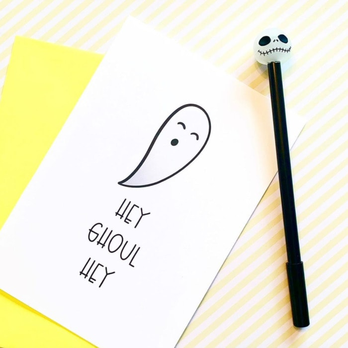 Ghost Puns - hey ghoul hey card