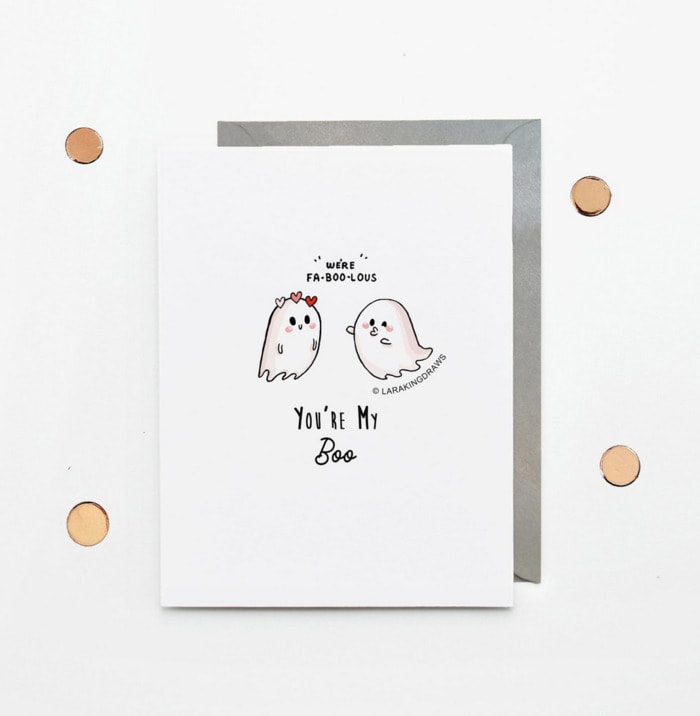 Ghost Puns - you're my boo greeting card