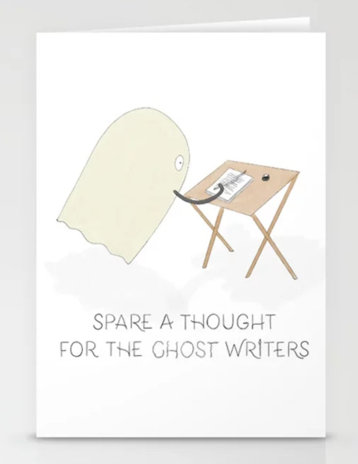 Ghost Puns - ghost writers card