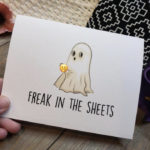 Ghost Puns - freak in the sheets card