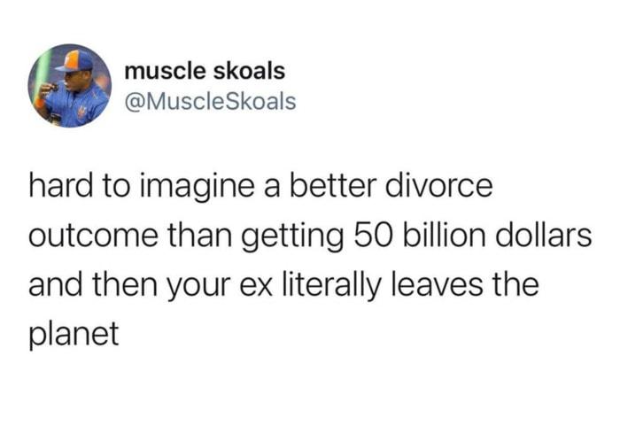 Jeff Bezos Space Tweets - divorce outcome