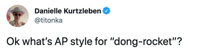 Jeff Bezos Space Tweets - AP style dong rocket