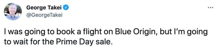 Jeff Bezos Space Tweets - Prime Day Sale
