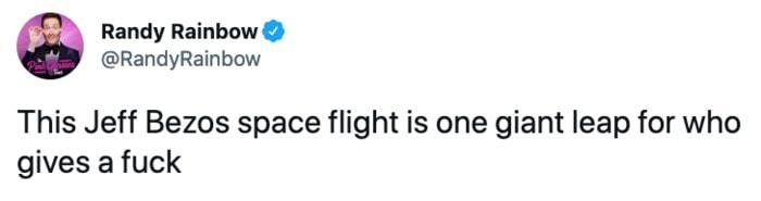 Jeff Bezos Space Tweets - one giant leap