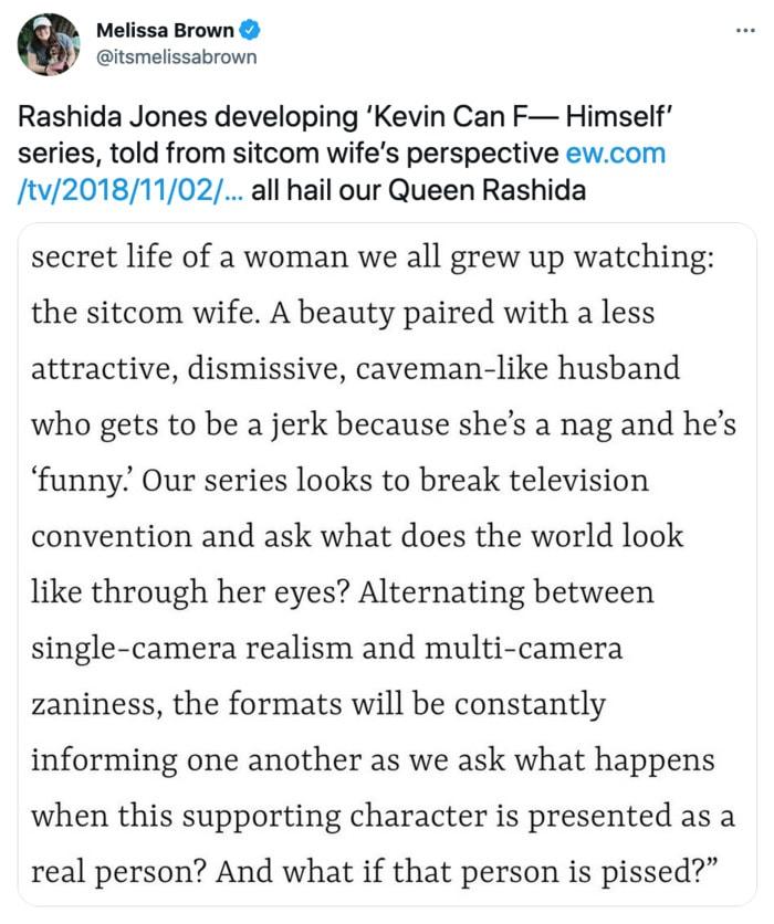 Kevin Can F Himself Tweets - Rashida Jones comments