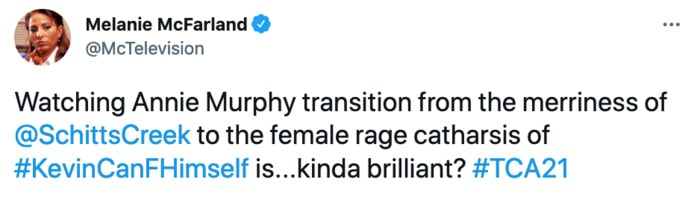 Kevin Can F Himself Tweets - Annie Murphy transition