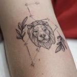 Leo Tattoo - Constellation Lion ink