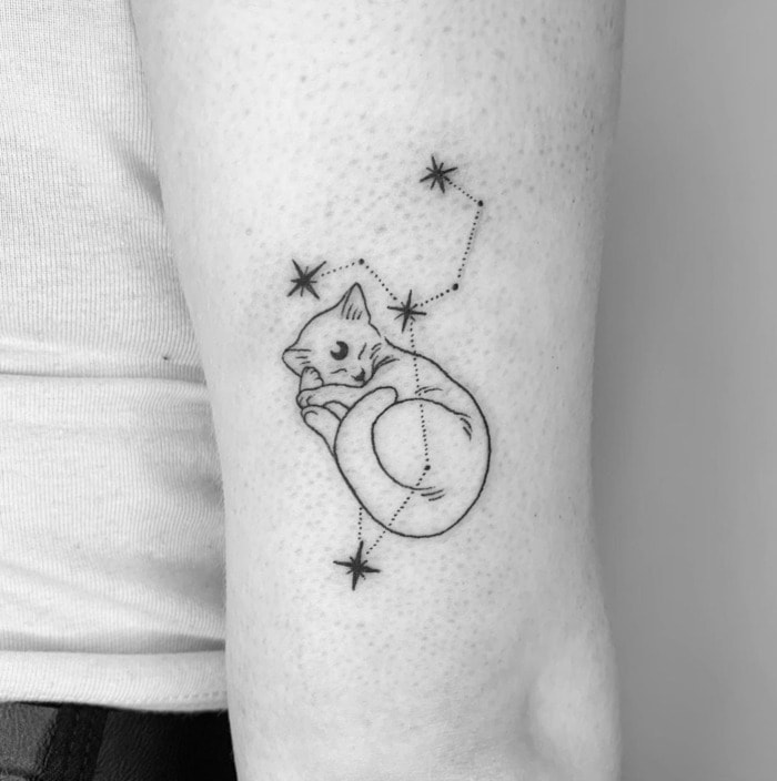 Leo Tattoo - kitten constellation tattoos