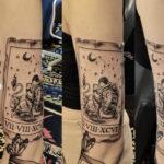 Leo Tattoo - tarot card zodiac tattoo