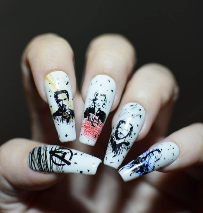 Marvel Nails - Avengers Nail art