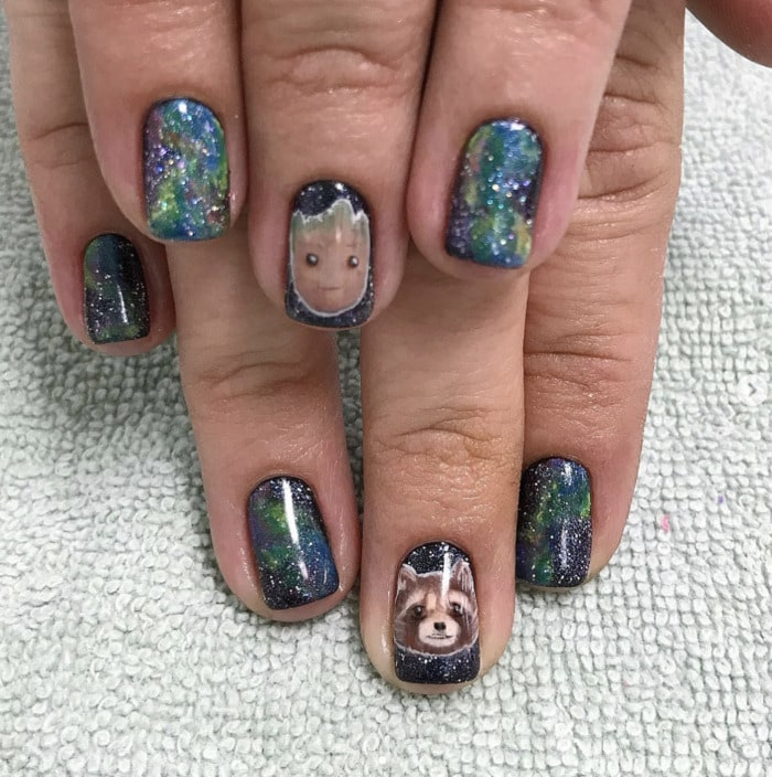 Marvel Nails - Guardians of the Galaxy nails