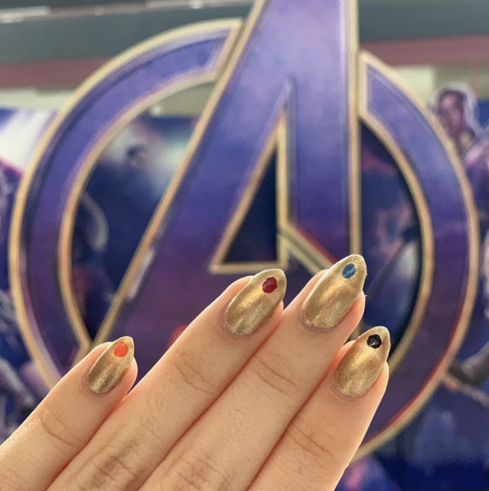 Marvel Nails - Infinity Gauntlet Design