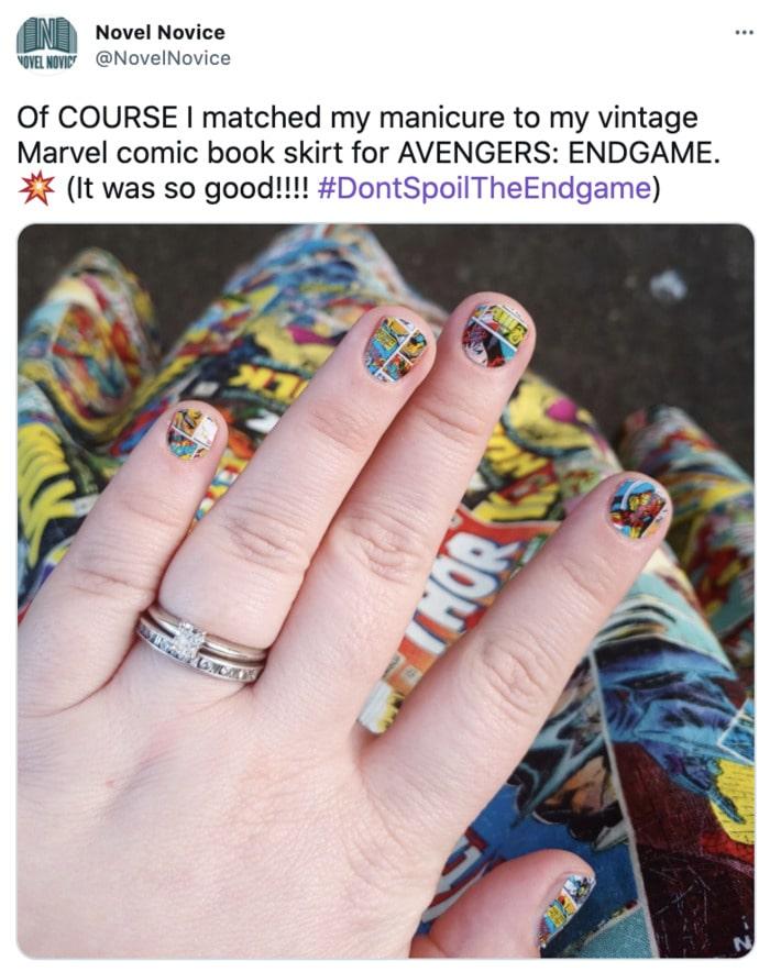 Marvel Nails - Comic Book Nail Design
