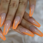 Neon Nails - orange tips