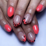 Neon Nails - pink leopard tips