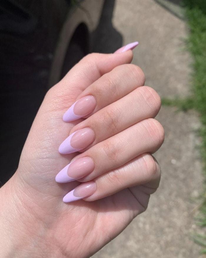 Purple Nail Designs - lavender tips