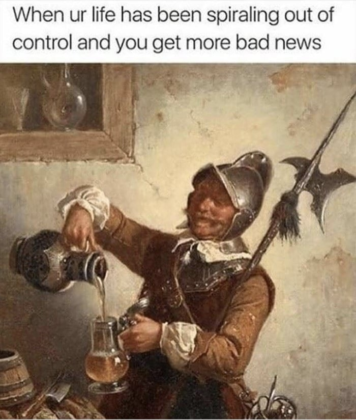 Art Memes - soldier pouring wine