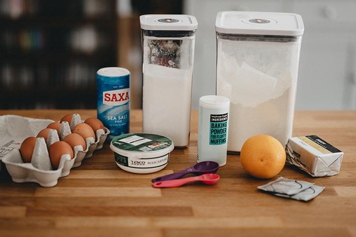 Baking Powder vs Baking Soda - Ingredients on Counter