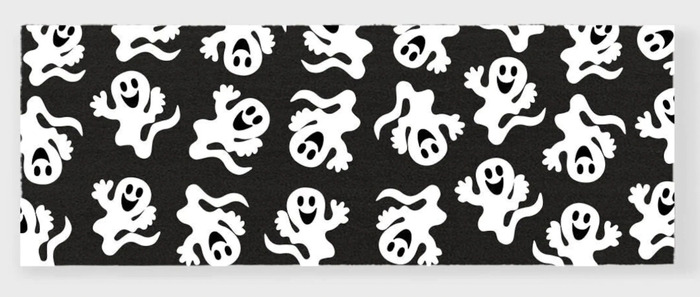 Ghost Rugs - black and white runner