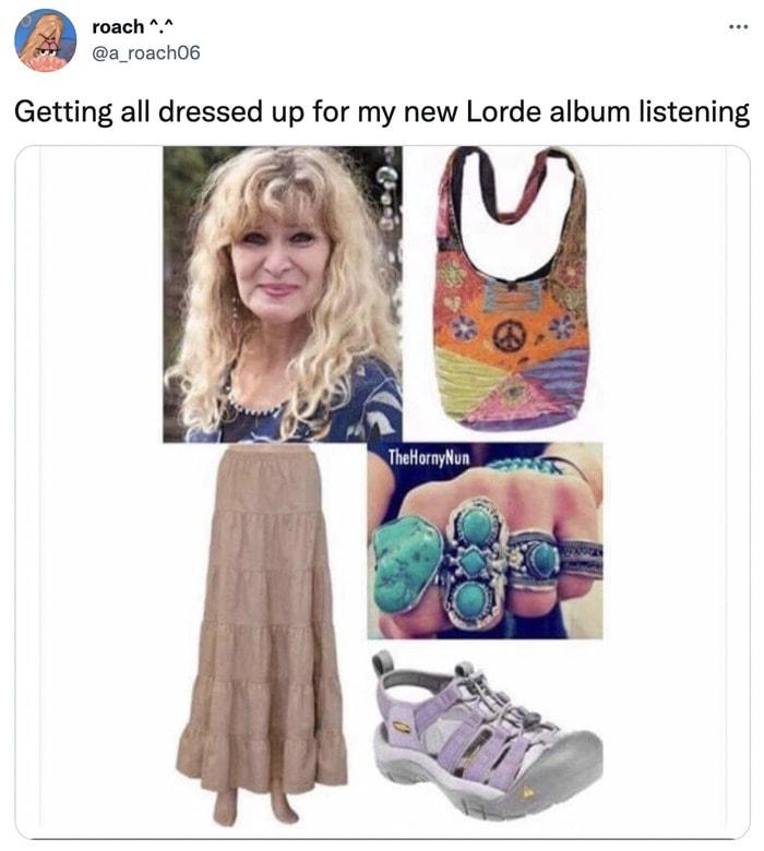 Lorde Solar Power Memes - listening party attire