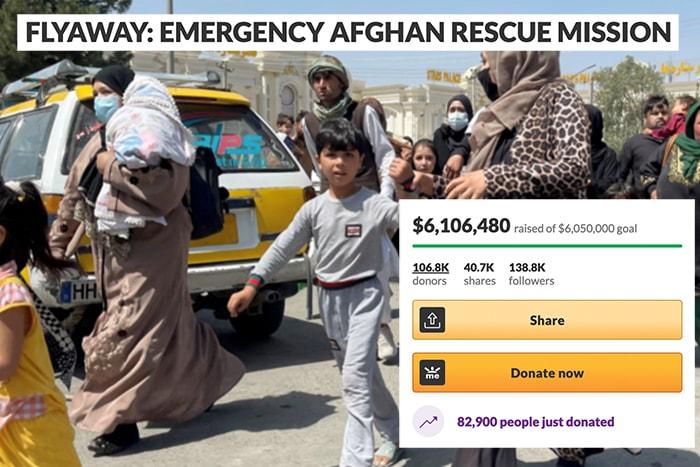 Meme Account Evacuating Afghans from Kabul