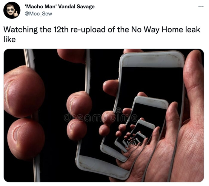Spider-Man No Way Home Trailer Leak Memes - cell phone