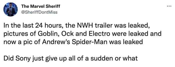 Spider-Man No Way Home Trailer Leak Memes - Sony